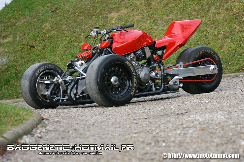 Reverse trikes, awesome looks, awesomely scary when the rear tyre